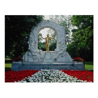 Rotes Denkmal Johann Strauss, Stadtpark, Wien, Au Postkarte