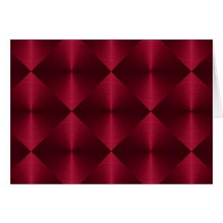 Rotes Diamant-Fliesen-Muster Karte