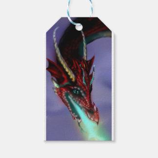 Rotes Drache-Feuer flammt magisches niedliches Geschenkanhänger