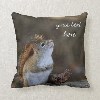 Rotes Eichhörnchen Kissen