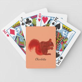 Rotes Eichhörnchen-niedliches Waldtier Bicycle Spielkarten