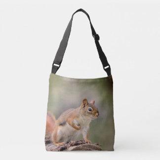 Rotes Eichhörnchen Tragetaschen Mit Langen Trägern