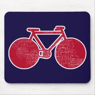 rotes Fahrrad Mousepad