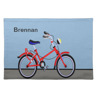 Rotes Fahrrad Tischset