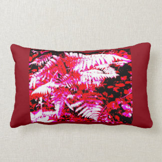 Rotes Farn-Blatt-abstraktes lumbales Kissen