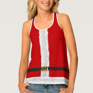 Rotes festliches Trägershirt Frau-Sankt Xmas Tanktop
