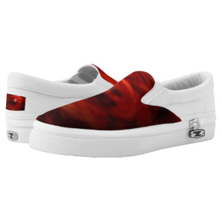 Rotes Feuer-Bereich Slip-On Sneaker