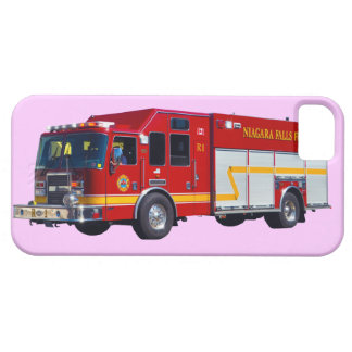 Rotes Feuer-Motor-Feuerwehrmann-LKW-Gerät-Fall Etui Fürs iPhone 5