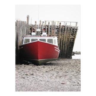 Rotes Fischerboot Neuschottland Kanada Fotodruck