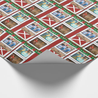 Rotes Foto-kundenspezifischer Land-Feiertag der Geschenkpapier