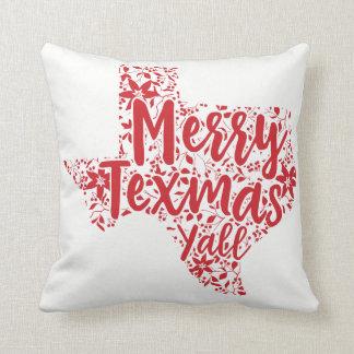 Rotes fröhliches Texmas Sie Texas-Weihnachtskissen Kissen