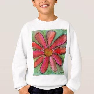 rotes Gänseblümchen Sweatshirt