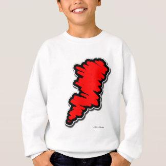 Rotes Gekritzel Sweatshirt