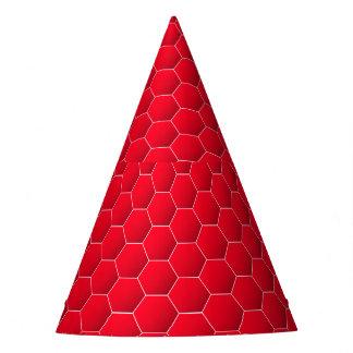 Rotes geometrisches Hexagon Partyhütchen