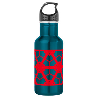Rotes geometrisches Muster 4Lulu Trinkflasche