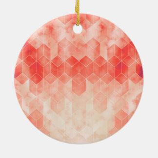 Rotes geometrisches Würfel-Grafikdesign Keramik Ornament