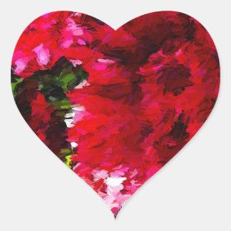 Rotes Gerbera-Gänseblümchen abstrakt Herz-Aufkleber
