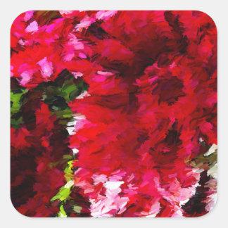 Rotes Gerbera-Gänseblümchen abstrakt Quadratischer Aufkleber