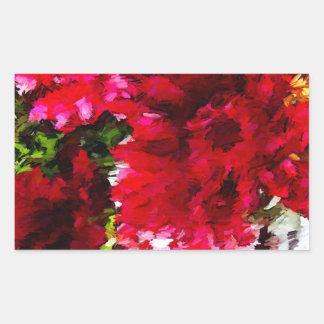 Rotes Gerbera-Gänseblümchen abstrakt Rechteckiger Aufkleber