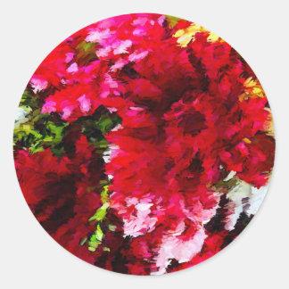 Rotes Gerbera-Gänseblümchen abstrakt Runder Aufkleber