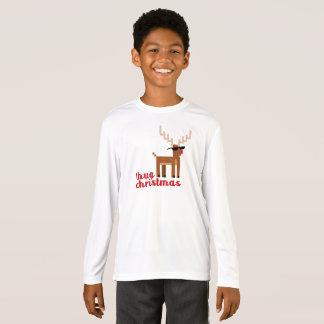 Rotes gerochenes Ren-Weihnachten lustiges T-Shirt