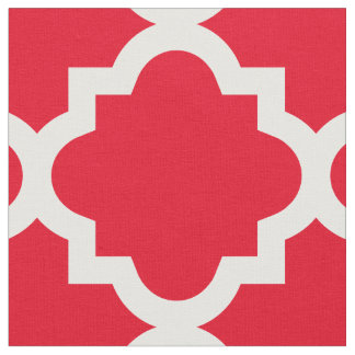 Rotes Gewebe Quatrefoil Muster-  Stoff