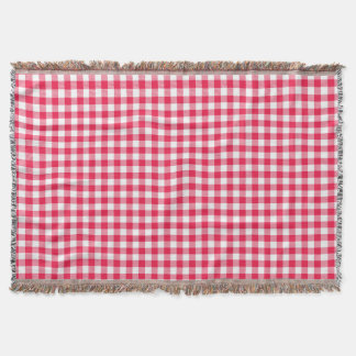 Rotes Gingham-Land Decke