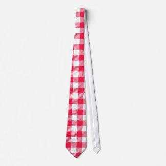 Rotes Gingham-Muster Krawatte