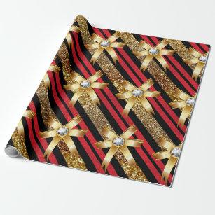Schwarz Rot Gold Geschenkpapiere |