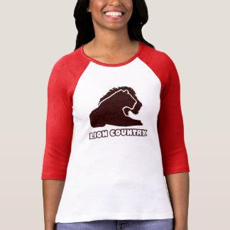 Rotes Goldlöwe-Land-einzigartige Dame, Mann-T - T-Shirt