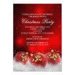 Rotes Goldstechpalmen-Flitter-WeihnachtsParty 12,7 X 17,8 Cm Einladungskarte