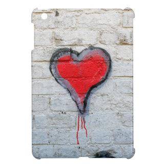 Rotes Graffitiherz iPad Mini Hülle