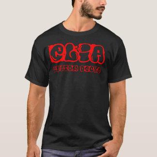 Rotes graphiti Logo T-Shirt