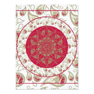 Rotes graues Weiß des 14 X 19,5 Cm Einladungskarte