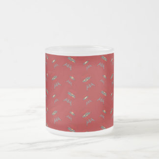 rotes Grillmuster Tee Tasse