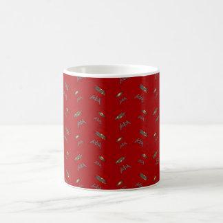 rotes Grillmuster Kaffeetassen