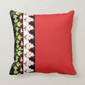 Rotes grünes Blatt-Blumen-Kissen Kissen