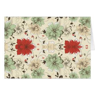 rotes grünes graues Jademit blumenmuster der Blume Grußkarte