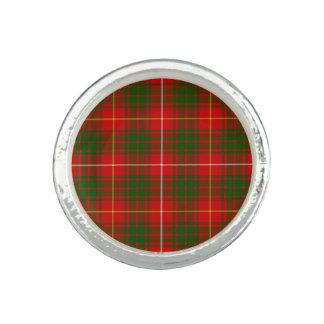 Rotes grünes kariertes Bruce-Clan Tartan Foto Ring