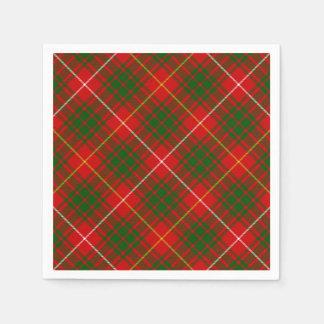 Rotes grünes kariertes Bruce-Clan Tartan Serviette