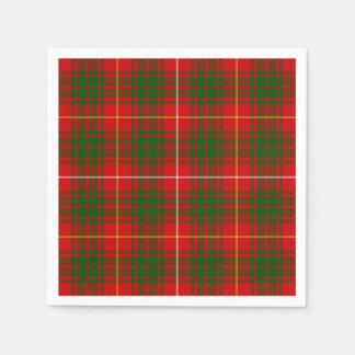 Rotes grünes kariertes Bruce-Clan Tartan Servietten