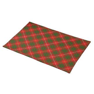 Rotes grünes kariertes Bruce-Clan Tartan Stofftischset