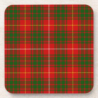Rotes grünes kariertes Bruce-Clan Tartan Untersetzer