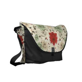 rotes grünes Mit Blumengrau der Botetaschen-Blume Kurier Taschen
