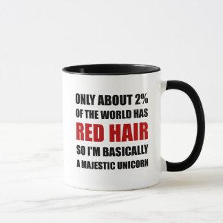 Rotes Haar-majestätisches Einhorn Tasse