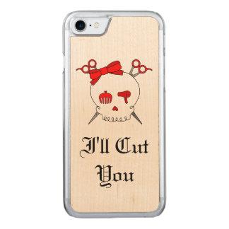 Rotes Haar-zusätzlicher Schädel - Scissor Carved iPhone 8/7 Hülle