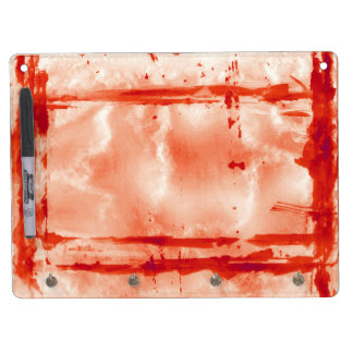 Rotes Halloween-Farben-LaborSpuk Haus-Stütze Trockenlöschtafel Mit Schlüsselanhängern