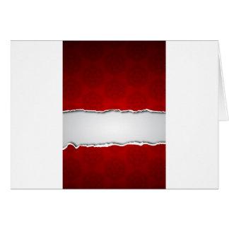 Rotes heftiges Papier und Muster Karte