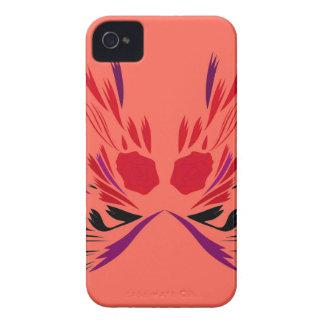 Rotes Hennastrauch Tätowierung ethno iPhone 4 Case-Mate Hülle