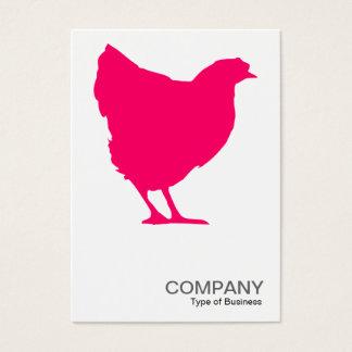 Rotes Henne-Neonsymbol 02 - Weiß Visitenkarte